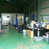 整備工場に新たに作業リフトを4機増設